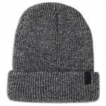 шапка меланж полуфанг двойной отворот