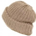 шапка с двойным отворотом